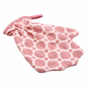 MICRO WASHING MITTEN OLD ROSE