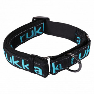 SOLID WEB COLLAR BLACK/TURQUOISE