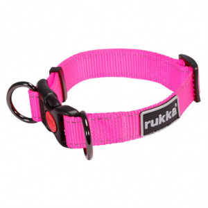 BLISS NEON ADJUSTABLE COLLAR HOT PINK