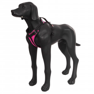 SOLID PADDED HARNESS HOT PINK